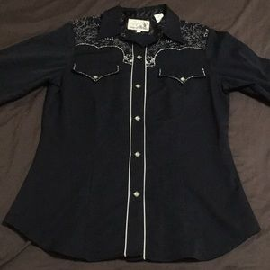 Roper embroidered western shirt